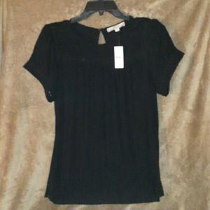 Loft Black Blouse size M NWT